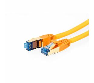 ProfiPatch Patchkabel Cat.6A S/FTP RJ45 mit Cat.7 Rohkabel PiMF LSZH 10GB orange 0,25m
