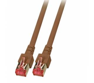 Patchkabel Cat.6 S/FTP RJ45 DSL Ethernet TV Netzwerk LAN 5GB braun 25m