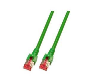 Patchkabel Cat.6 S/FTP RJ45 DSL Ethernet TV Netzwerk LAN 5GB grün 0,15m