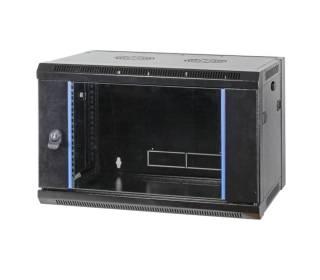 "19"" Wandgehäuse Netzwerkschrank 4HE Flat Pack unmontiert Tiefe 450mm schwarz"
