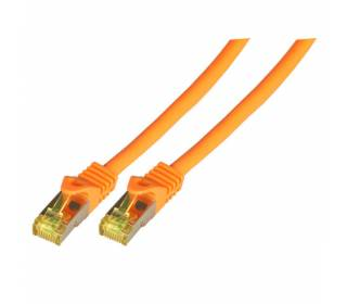 Patchkabel Cat.6A S/FTP LSZH Cat.7 Rohkabel RJ45 PiMF 10GB orange 3m