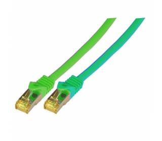 Patchkabel Cat.6A S/FTP LSZH Cat.7 Rohkabel RJ45 PiMF 10GB grün 3m