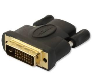 HDMI Buchse auf DVI-D 24+1 dual link Stecker Techly IADAP-DVI-HDMI-F