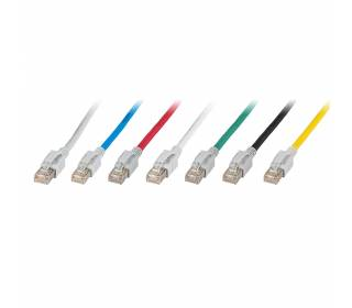 Patchkabel Cat.6a VC LED S/FTP LSZH Cat.7 Rohkabel RJ45 PiMF 10GB 7 Farben 0,5m-50m