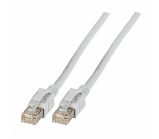 Patchkabel Cat.6a VC LED S/FTP LSZH Cat.7 Rohkabel RJ45 PiMF 10GB grau 50m