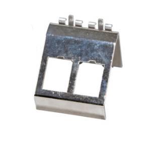 Keystone Modulhalter 2-fach für Hutschiene Edelstahl  ProfiPatch