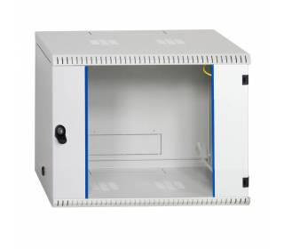 """19"""" Wandgehäuse Netzwerkschrank Serverschrank 9HE Tiefe 500mm grau ProfiPatch"""