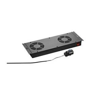Dachlüftereinschub 2-fach tiefschwarz RAL9005 für Standverteiler s01 CLASSIC