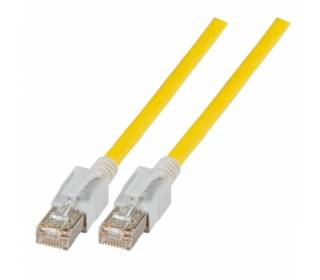 Patchkabel Cat.6a VC LED S/FTP LSZH Cat.7 Rohkabel RJ45 PiMF 10GB gelb 3m