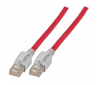 Patchkabel Cat.6a VC LED S/FTP LSZH Cat.7 Rohkabel RJ45 PiMF 10GB rot 1,5m