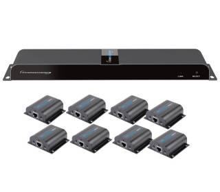 HDMI Extender/Splitter IR über Netzwerkkabel max. 50m 1x8 Techly IDATA-EX-HL81TY