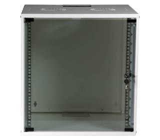 "19"" Wandgehäuse Netzwerkschrank Wandschrank unmontiert 12HE Tiefe 450mm weiß ProfiPatch"
