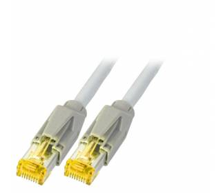 Patchkabel Cat.6A S/FTP PiMF Draka UC900+RJ45 Hirose TM31 10GB grau 25m