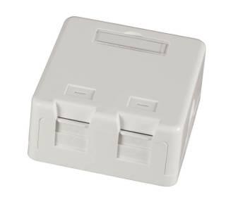 Keystone Verteilerbox Aufputz 2-Port für Keystone-Module mit Staubschutzklappe