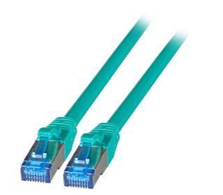 Patchkabel Cat.6A S/FTP TPE superflex mit Cat.7 Rohkabel 10GB grün 15m