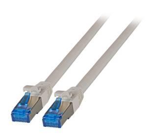Patchkabel Cat.6A S/FTP TPE superflex mit Cat.7 Rohkabel 10GB grau 15m