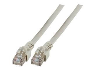 Patchkabel Cat.5e SF/UTP PVC RJ45 DSL Ethernet TV Netzwerk LAN 2,5GB grau 0,15m