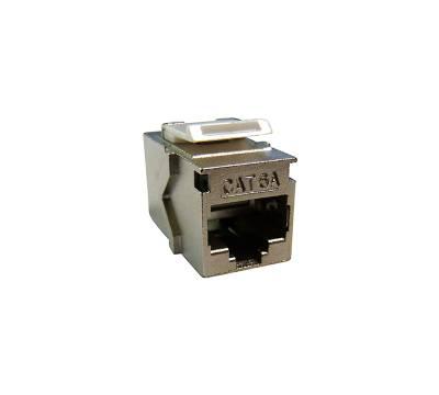 Cat.6A Keystone Einbauadapter Verbindungskupplung RJ45 Buchse beidseitig 1:1 geschirmt Metallgehäuse