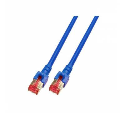 Patchkabel Cat.6 S/FTP RJ45 DSL Ethernet TV Netzwerk LAN 5GB blau 1m