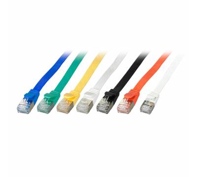 Patchkabel Flachkabel Slim Cat.6A U/FTP RJ45 TV Netzwerk LAN 7 Farben 0,25m-5m