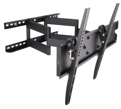 "Wandhalterung für LCD TV LED 23"" - 55"" FullMotion Dual Arm Schwarz Techly ICA-PLB-147M"