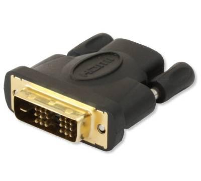 HDMI Buchse auf DVI-D 18+1 single link Stecker Techly IADAP-HDMI-651