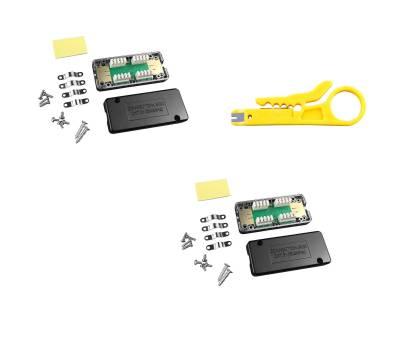 2x Netzwerk Verlängerung Verbindungsmodul LSA Verbinder Cat.6A Cat.7 geschirmt
