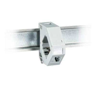 Keystone Modulhalter 1-fach für Hutschiene anreihbar Kunststoff ProfiPatch