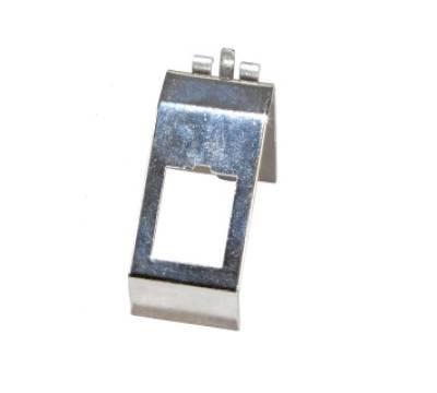 Keystone Modulhalter 1-fach für Hutschiene Edelstahl  ProfiPatch