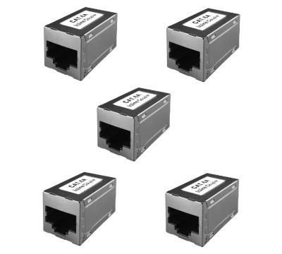 5x Netzwerk Kupplung Cat.6A RJ45 Patchkabel Verbinder Modular Adapter ProfiPatch