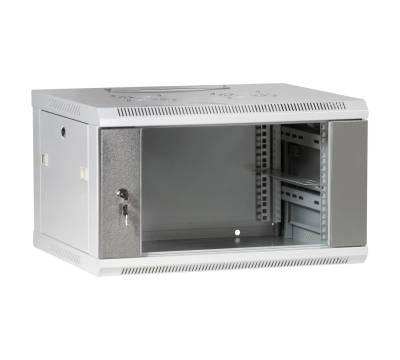 """19"""" Wandgehäuse Netzwerkschrank Serverschrank 6HE Tiefe 500mm grau ProfiPatch"""