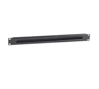 """19"""" Kabeldurchführungspanel 1HE mit Bürsteneinsatz schwarz RAL9005 ProfiPatch"""
