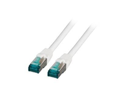 Patchkabel Cat.6A S/FTP LSZH DSL Ethernet TV Netzwerk LAN 10GB weiß 20m