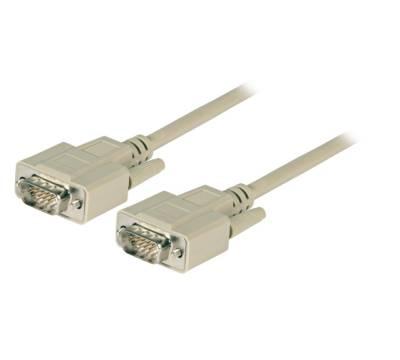 VGA Anschlusskabel D-Sub 15-polig Stecker-Stecker beige 5m