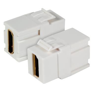 HDMI Keystone Einbauadapter 4K UHD A Buchse auf A Buchse weiß