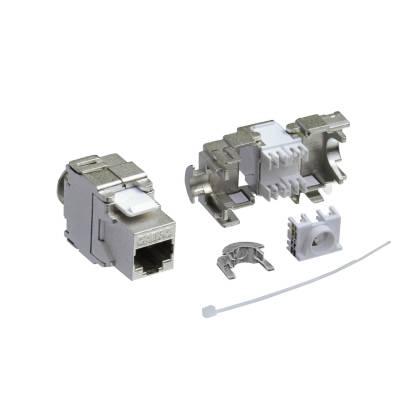 1x Keystone Jack Modul Cat.6a RJ45 STP werkzeuglos Netzwerk Adapter ProfiPatch