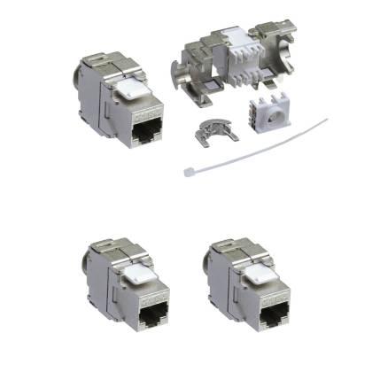 2x Keystone Jack Modul Cat.6a RJ45 STP werkzeuglos Netzwerk Adapter ProfiPatch