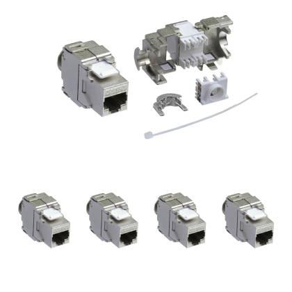 4x Keystone Jack Modul Cat.6a RJ45 STP werkzeuglos Netzwerk Adapter ProfiPatch