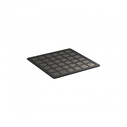 Modul mit Filtermatte -Öffnung A- tiefschwarz RAL9005  für Schrankserie s01 PRO