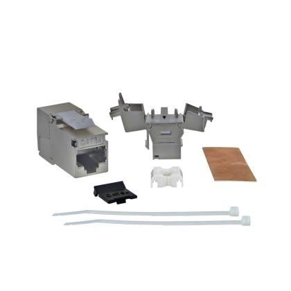 Keystone Jack Modul Cat6a Slim 500Mhz 10GBit RJ45 geschirmt werkzeuglos ProfiPatch - Professionelle Qualität