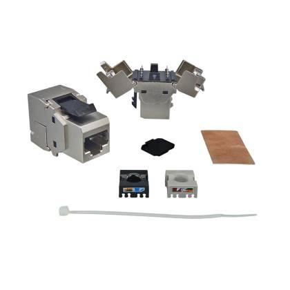 1x RJ45 Keystone Modul Cat.6a 500 Mhz 10Gbit vollgeschirmt werkzeuglos - Premium Qualität