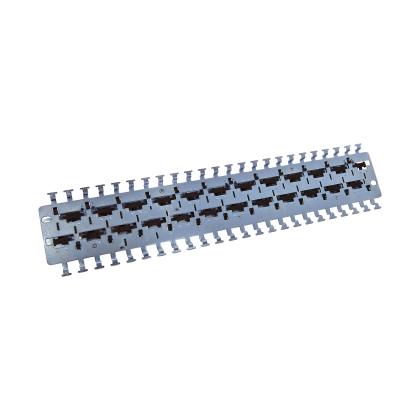 """INFRALAN® 19"""" Haltepanel zur Aufnahme von 24 Cat6.A Class EA Kabelverbinder k030"""