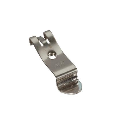 Hutschienenhalter mit Gewinde M5 Stahl vernickelt FM5/TS35 universal für Hutschiene 35mm