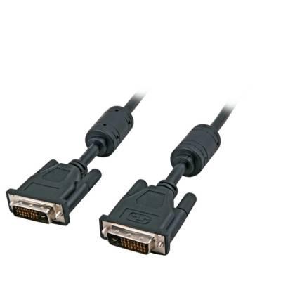 DVI-D Dual Link Kabel 2x DVI-D 24+1 Stecker-Stecker AWG24 schwarz 10m
