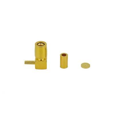 Rosenberger Hochfrequenz-Winkelkuppler 59K204-301L5 SMB-Steckverbinder Kupplung/Buchse RG178 gewinkelt 50 Ohm