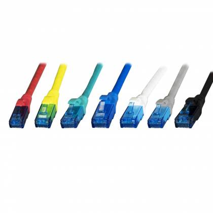 Patchkabel Cat.6A U/UTP RJ45 Premium AWG24 LSZH 500MHz 10GB 7 Farben | 0,15m-15m