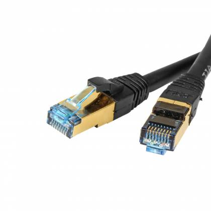 ProfiPatch Patchkabel Cat.6A S/FTP RJ45 mit Cat.7 Rohkabel PiMF LSZH 10GB schwarz 7,5m