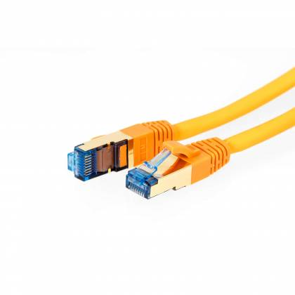 ProfiPatch Patchkabel Cat.7 Rohkabel RJ45 PiMF Netzwerk DSL LAN TV orange 0,25m