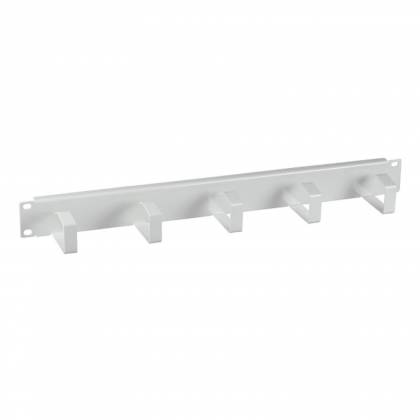 "19"" Kabelführungspanel 1HE Stahl Metall mit 5 Bügeln grau RAL7035 ProfiPatch"
