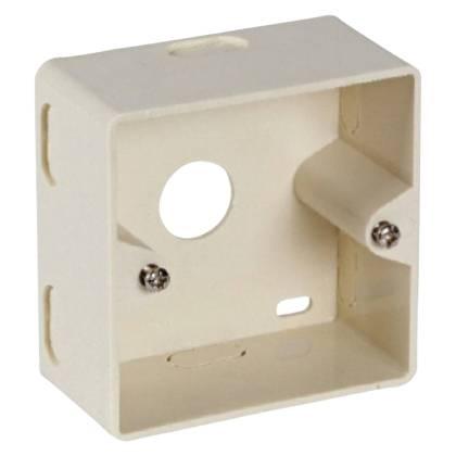 Aufputzgehäuse Aufputzbecher 80x80 Datendose Netzwerkdose Keystone RAL1013 perlweiß